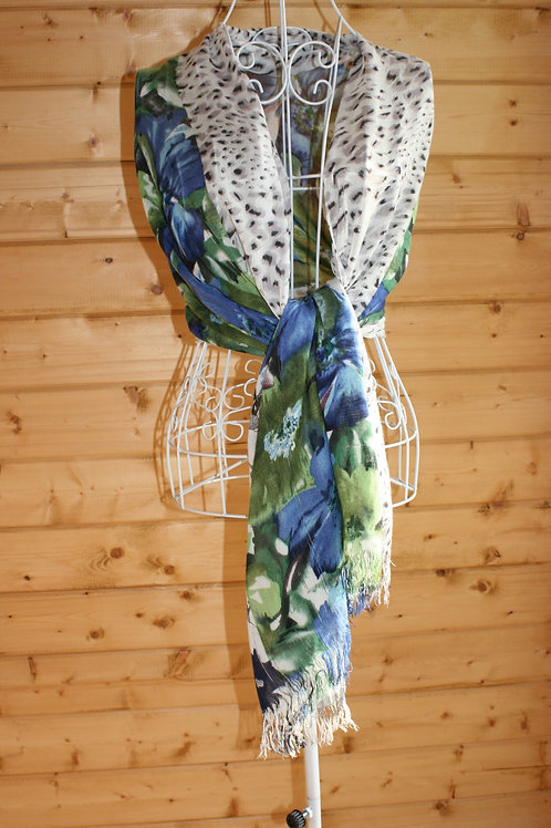 Large Floral & Animal Print Wrap/Scarf
