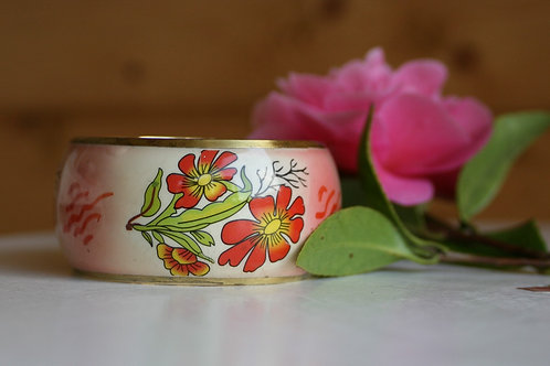 Vintage Metal and Enamel Bangle
