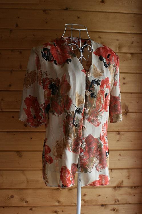 Size 10 Floral Vintage Blouse