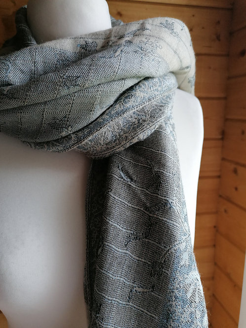 Grey Over-sized Scarf