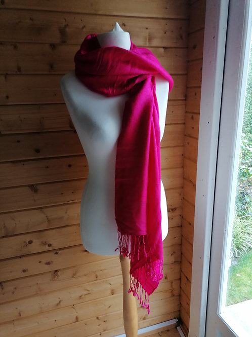 Over-sized Pink Scarf