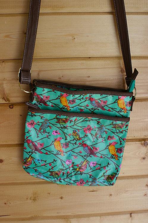 Messenger Bag in Vintage Style Pattern