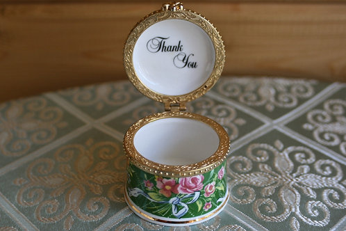 Fenton Bone Chine Collectable Trinket Box