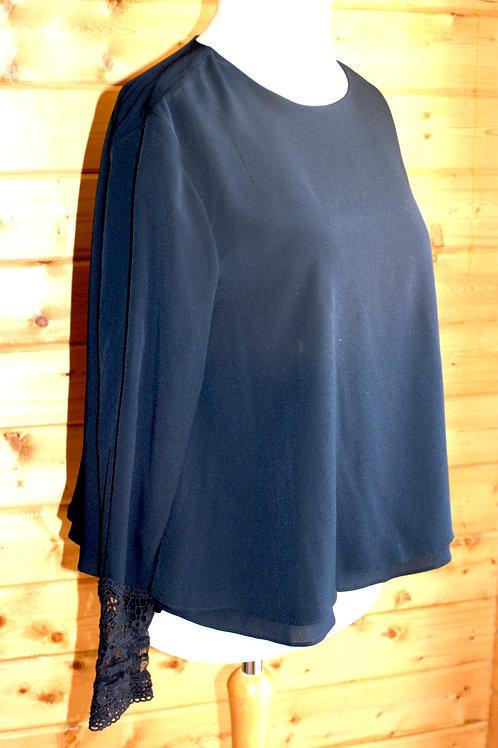 Size 14 Navy Zara Blouse