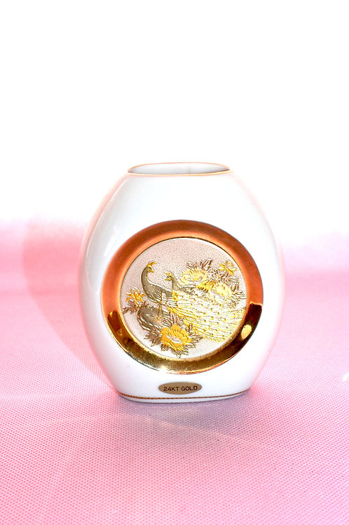 Chokin Japanese Small Vase