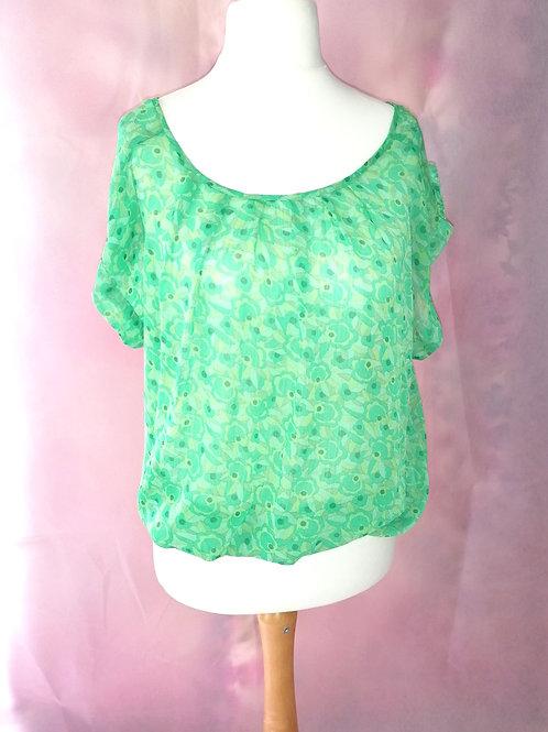 Size 10 Green Chiffon top