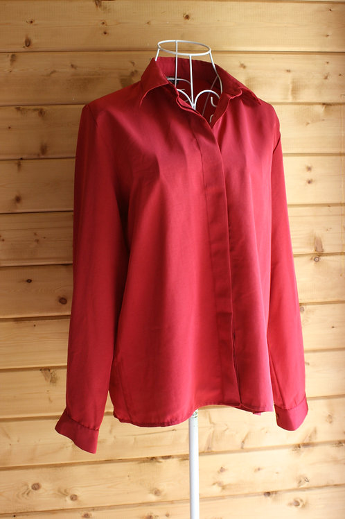 Size 12 Red Vintage Blouse