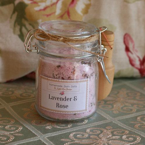 Homemade Lavender & Rose Bath Salts