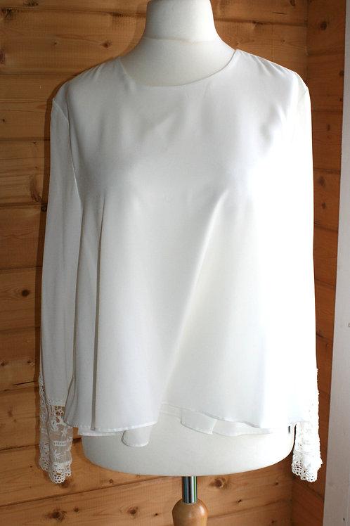 Zara Size L (14) Cream Top