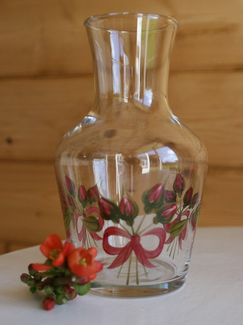 Vintage Hand-painted Glass Vase