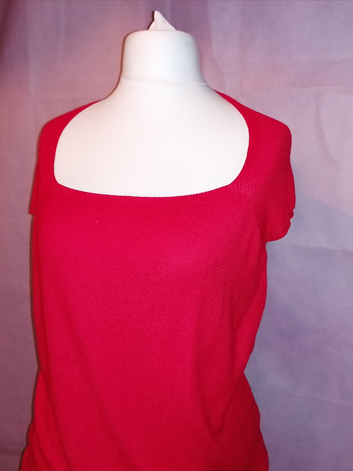 Size 16 Red Knit Top