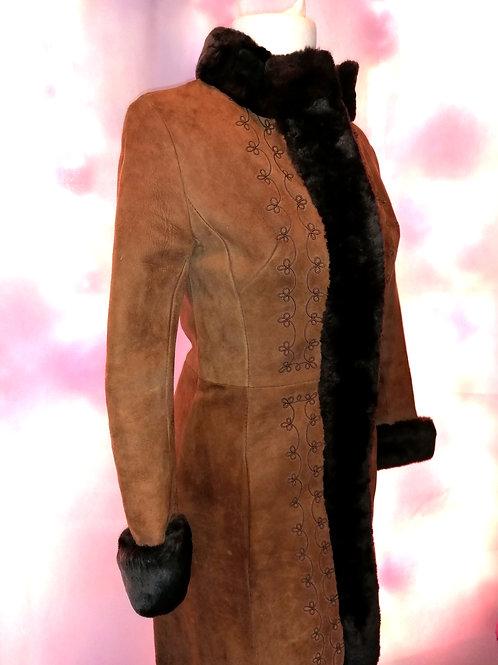 Size 12 Vintage Suede Coat