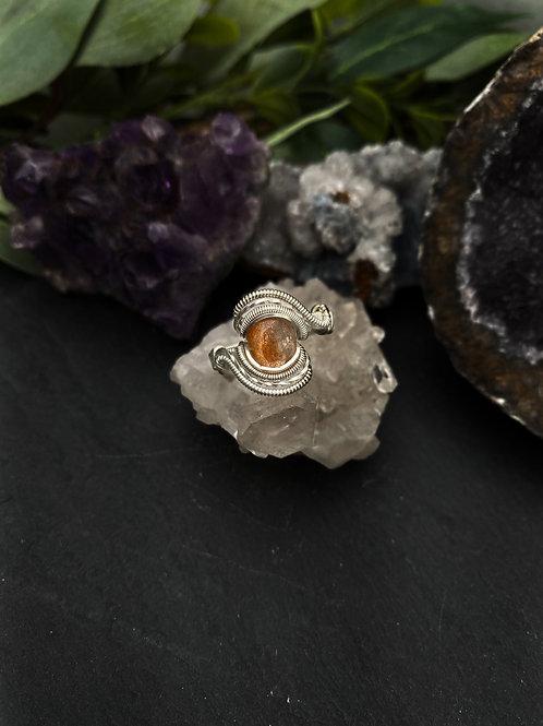 Sunstone Ring, Size 8.5