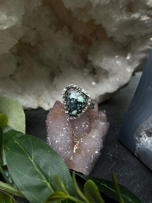 Snowville Variscite Ring, Size 7.5