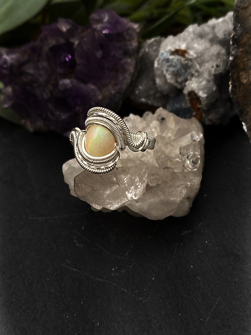 Natural Opal Ring, Size 8.5