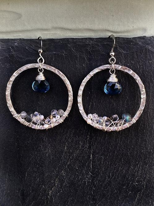"""London Blue Topaz """"Geode"""" Earrings"""