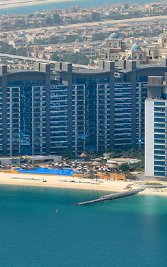 Working on one of the Palm Jumeirah's original residences