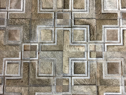 Rivadavia cowhide patchwork rug