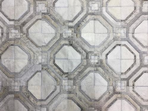 Casanova cowhide patchwork rug