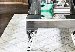 Acassuso cowhide patchwork rug