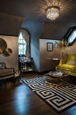 Recoleta leather hide rug
