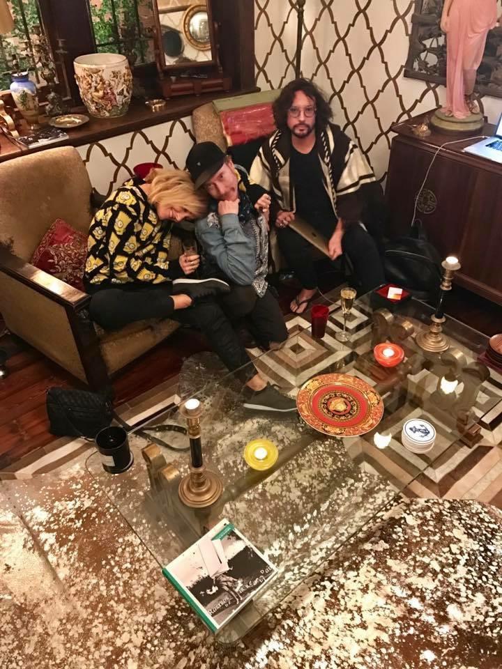Metallic rug + Chacarita cowhide rug