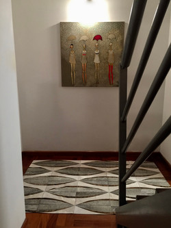 Beccar cowhide patchwork rug