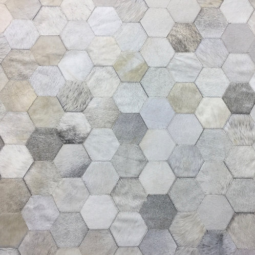 hexagon cowhide rug