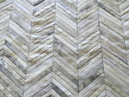 Martinez cowhide patchwork rug
