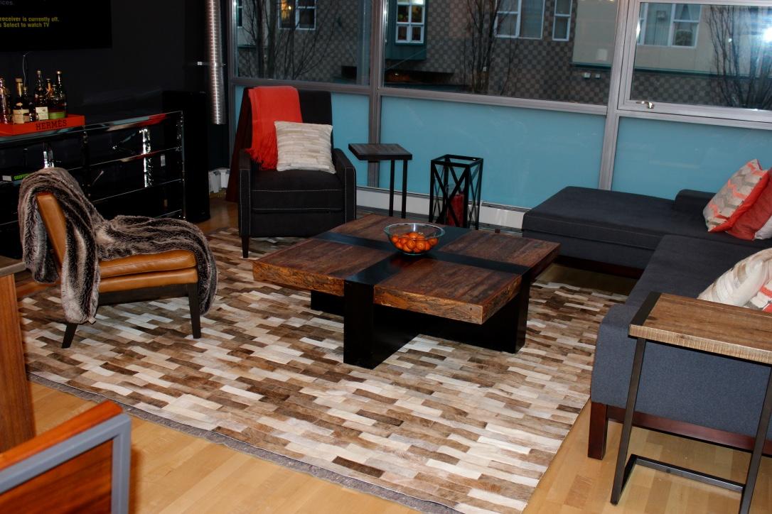 Retiro patchwork hide rug