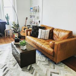 Crespo patchwork hide rug