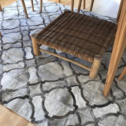 Pinamar cowhide patchwork rug