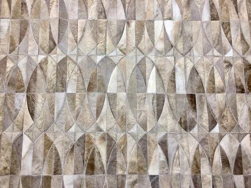 Lobos cowhide patchwork rug