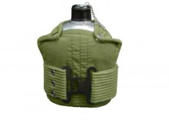 Aluminum Canteen And Pistol Belt Kit