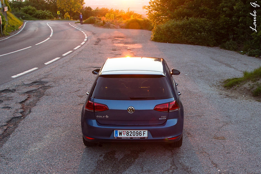Golf 6 VI Sonnenuntergang