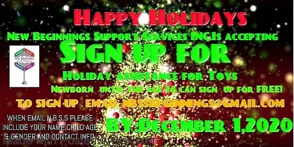 Holiday  sign up  for kids
