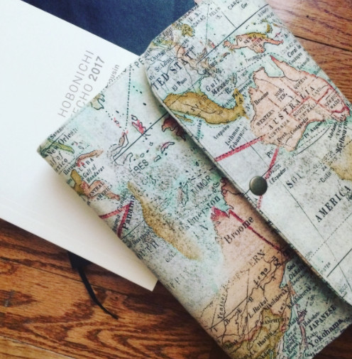 2 layer fabric journal in map fabric print cover made to order gumiabroncs Gallery