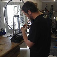 Darren from GO Outdoors building his first wheel at Bike Repairs 4U #bikerepairs4u #pedalandcrankcc