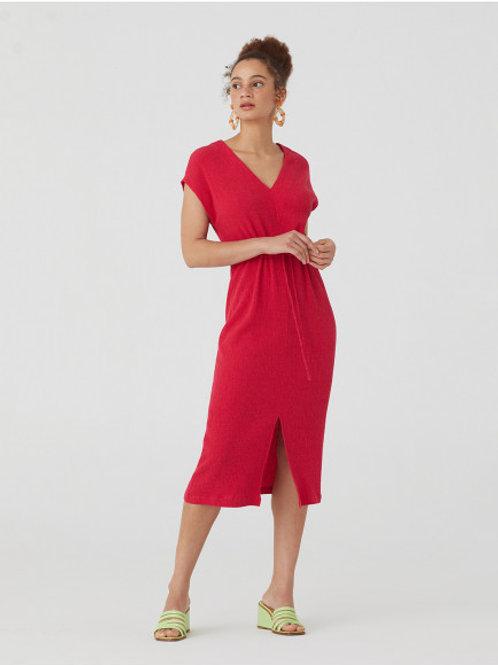 Solid Bambula Midi Dress