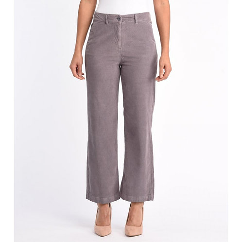 Wide Micro-Corduroy Trousers