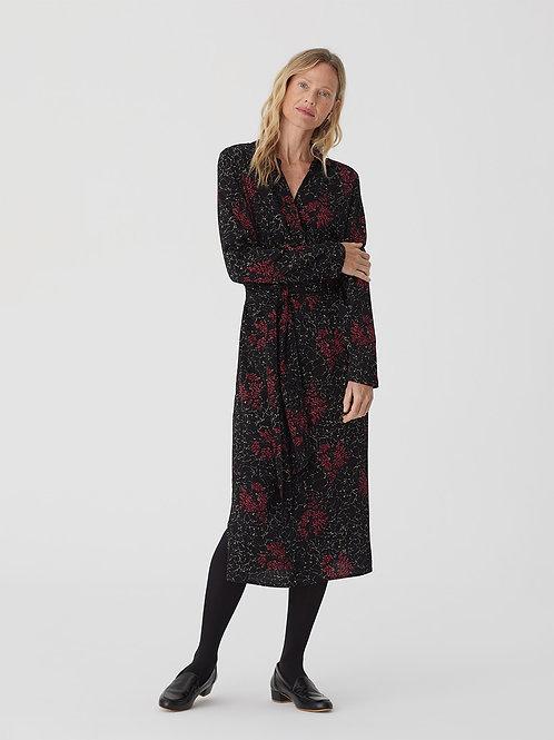 Adiantum print belted waist dress