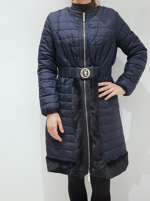 Padded Jacket with Elastic Belt