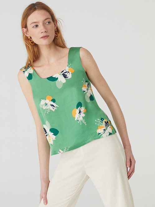Shiny Flowers Print Top
