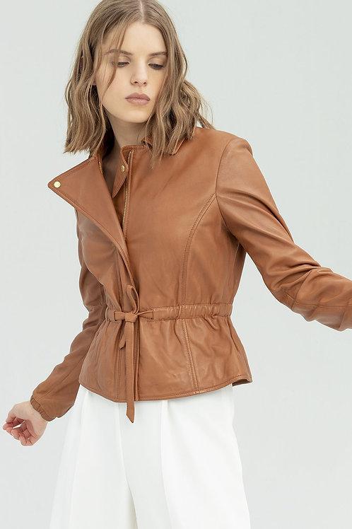 Leather Jacket Camel