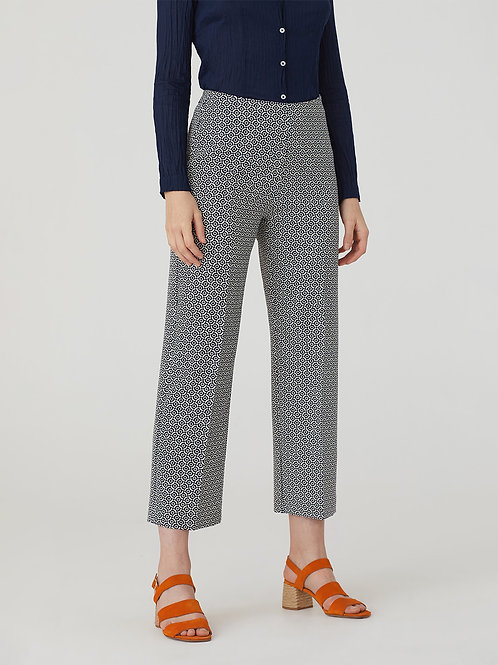 Waves Print Culotte Pant