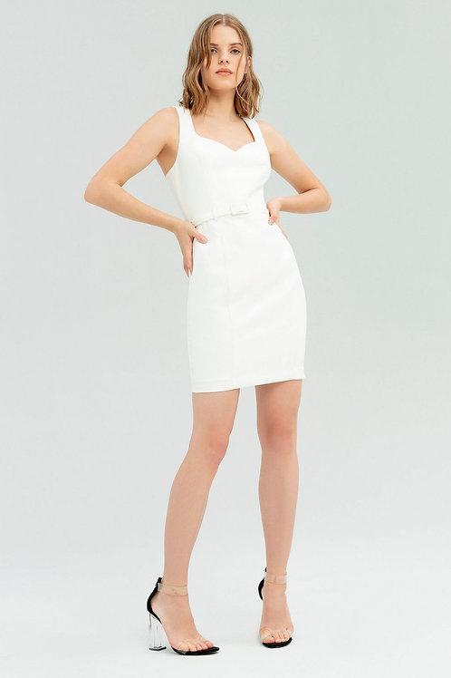 Sheath dress with belt