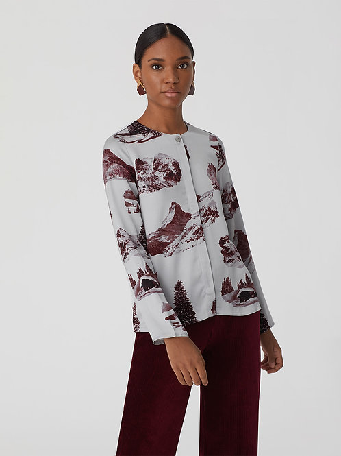 High mountain print top
