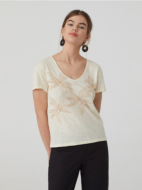 Palms Embroidered T-Shirt
