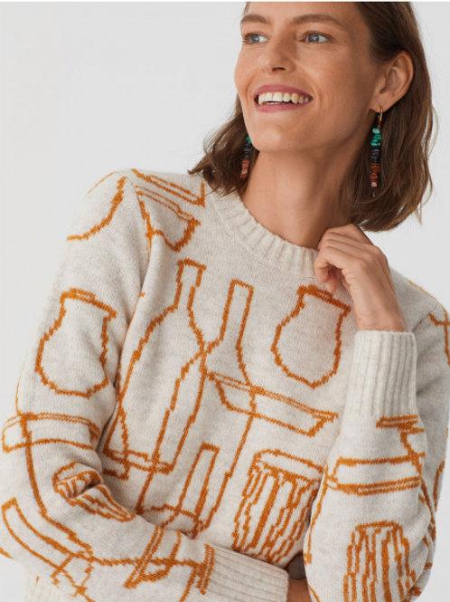 Bottles jacquard sweater