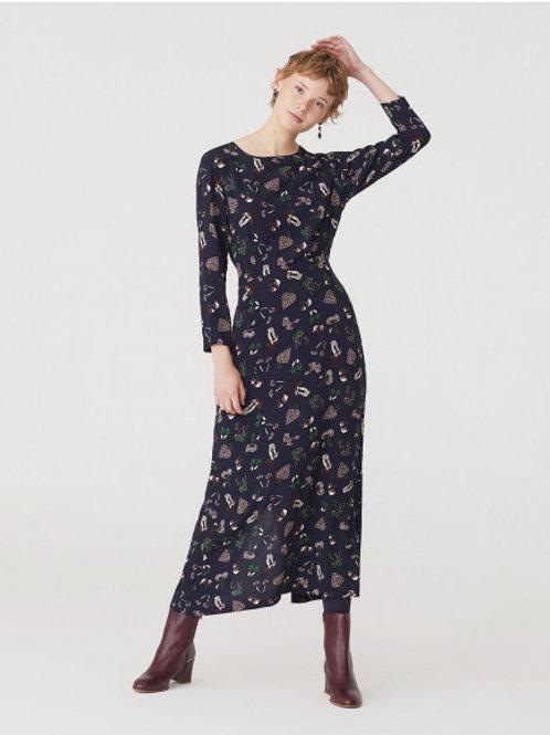 Mushrooms Print Long Dress